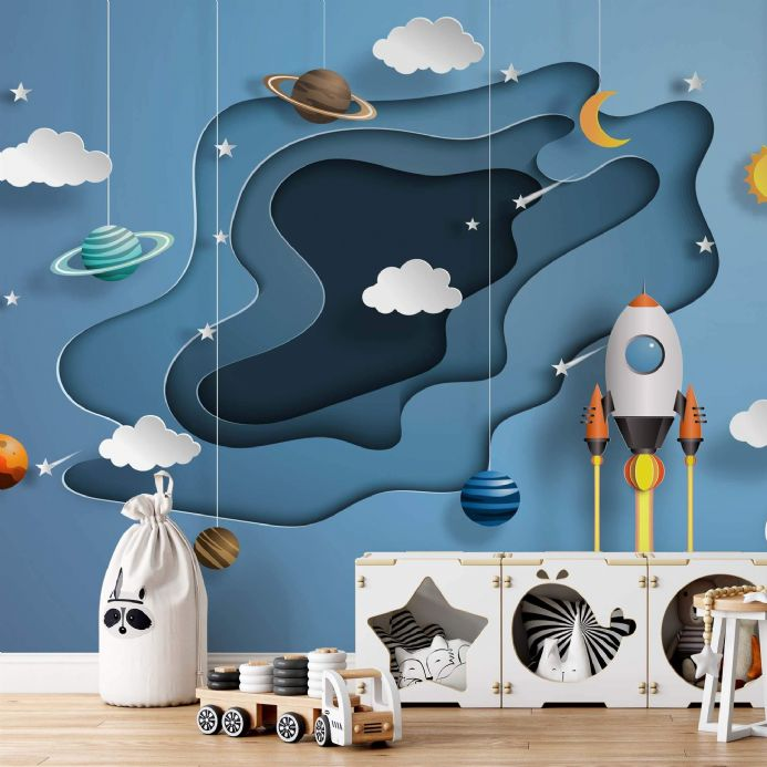 Photo wallpapers Space Papercut 3D for children's room  | Buy it online